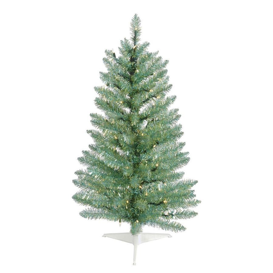Vickerman 3-ft Pre-Lit Artificial Christmas Tree with White Clear Incandescent Lights