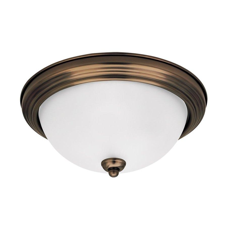 Led Ceiling Lights Lowes : Sea gull lighting in w chrome led ceiling flush
