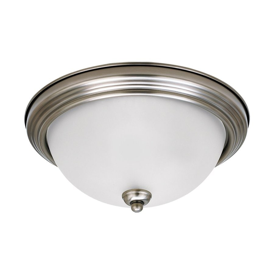 Sea Gull Lighting Antique Brushed Nickel Ceiling Fluorescent Light ENERGY STAR (Actual: 0-ft 10.5-in)