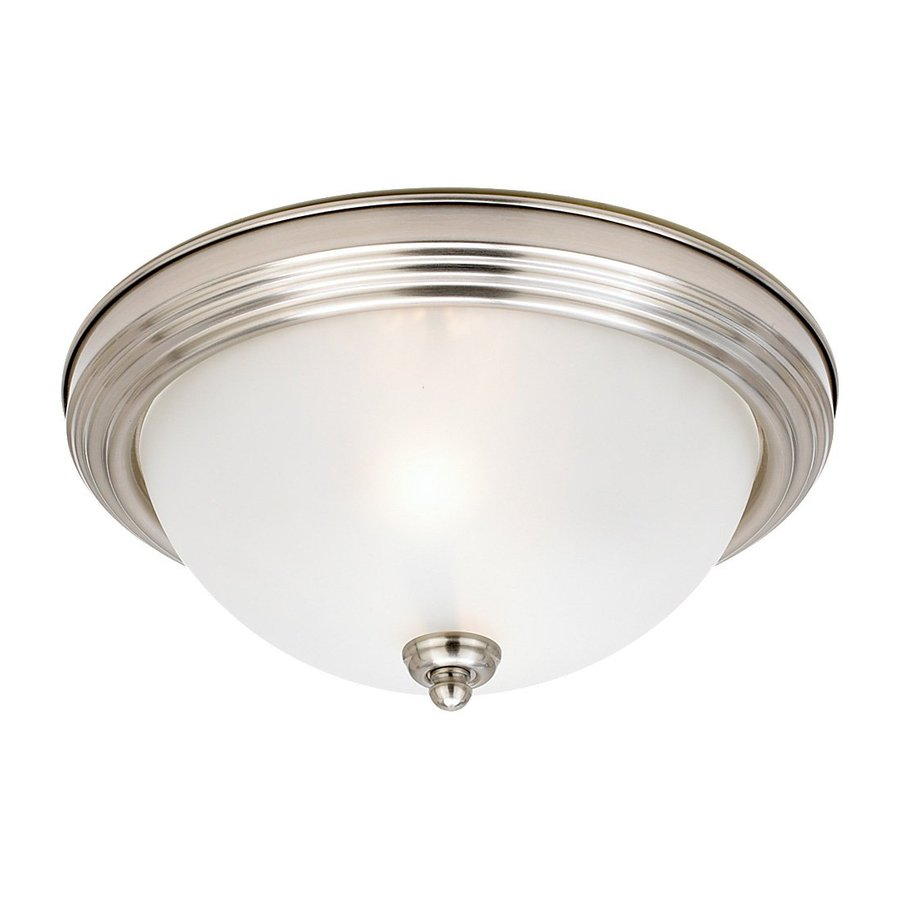 Sea Gull Lighting Brushed Nickel Ceiling Fluorescent Light ENERGY STAR (Actual: 1-ft 2.5-in)