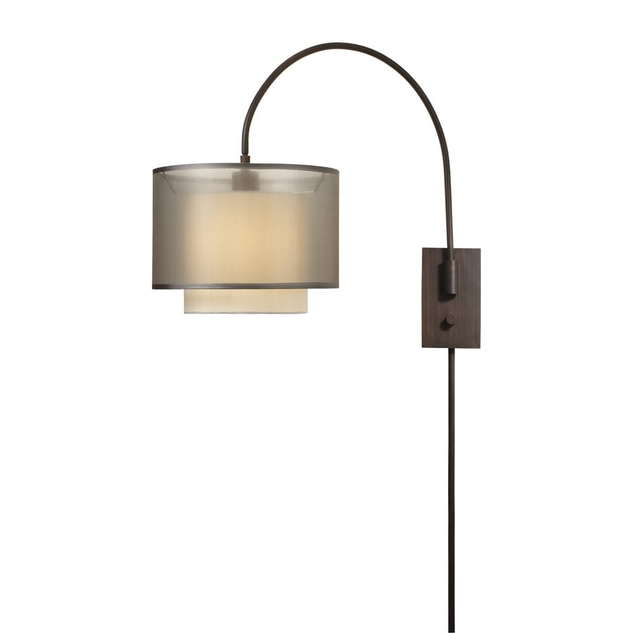 Plug In Wall Lamps Lowes : Shop Trend Lighting Brella 12-in W 1-Light Antique Bronze Swing Arm Plug-In Wall Sconce at Lowes.com