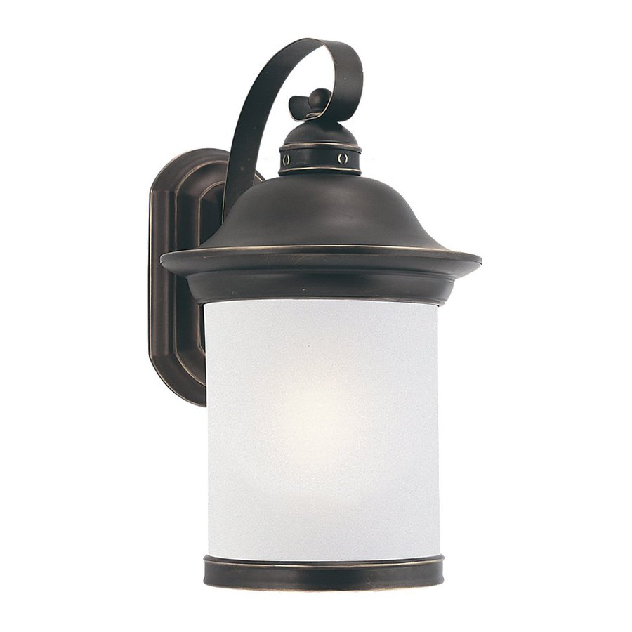 Sea Gull Lighting Hermitage 15.25-in H Antique Bronze Outdoor Wall Light ENERGY STAR