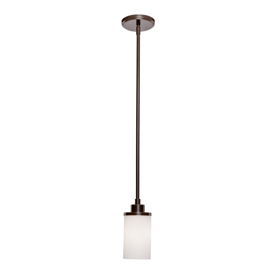 Artcraft Lighting Parkdale 5-in Oil Rubbed Bronze Mini Cylinder Pendant