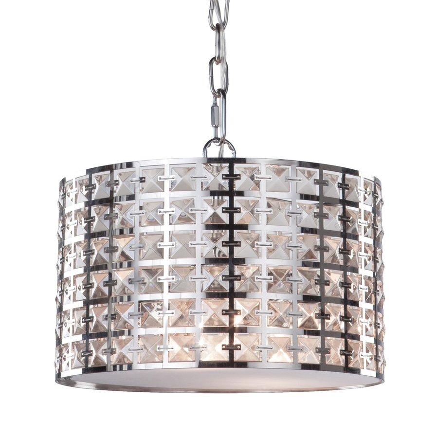 Artcraft Lighting Coventry 12-in Chrome Single Drum Pendant