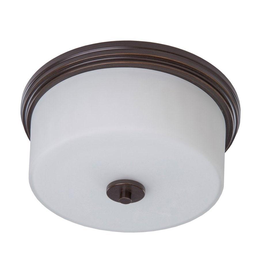 Artcraft Lighting Russell Hill 15-in W Oil Rubbed Bronze Ceiling Flush Mount Light