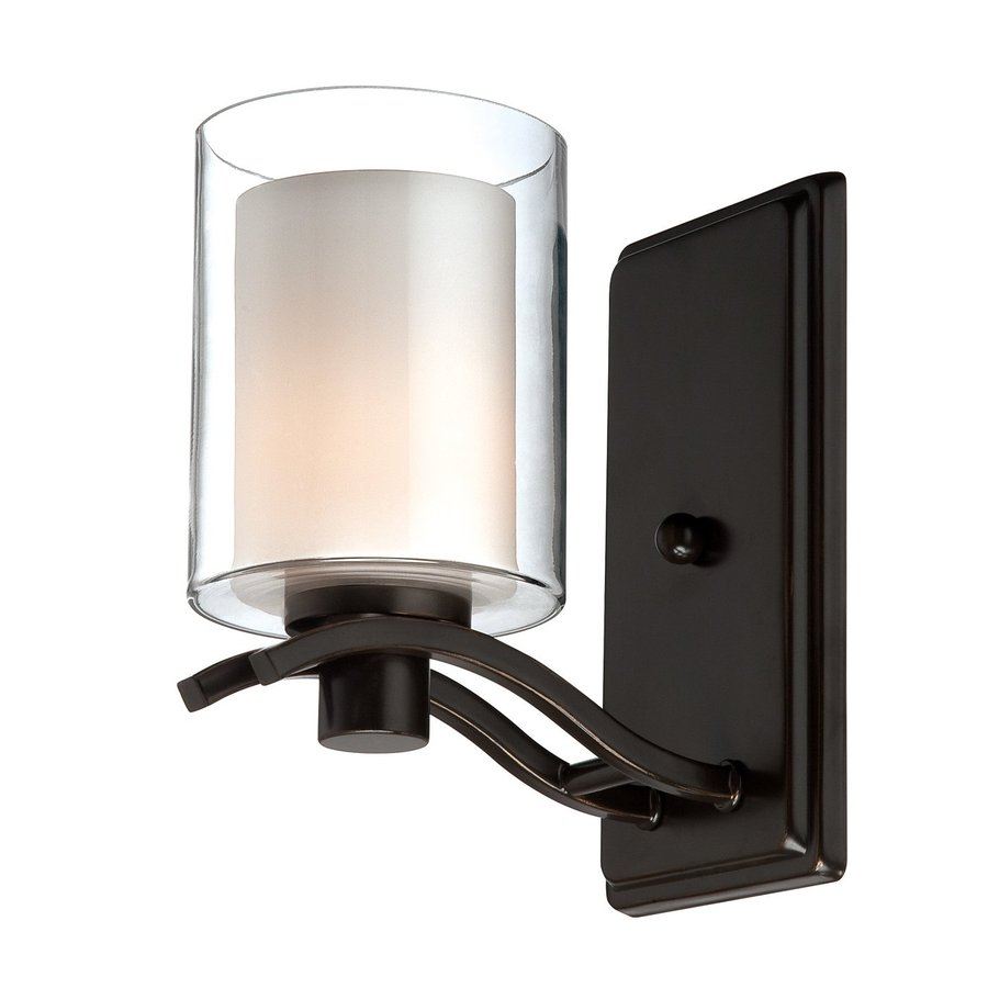 Artcraft Lighting Andover 4.25-in W 1-Light Oil Rubbed Bronze Arm Wall Sconce