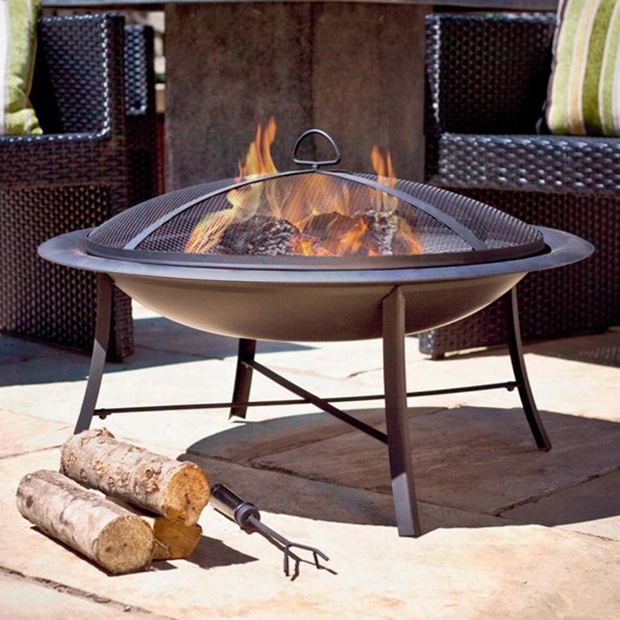 Jeco 30-in W Black Steel Wood-Burning Fire Pit