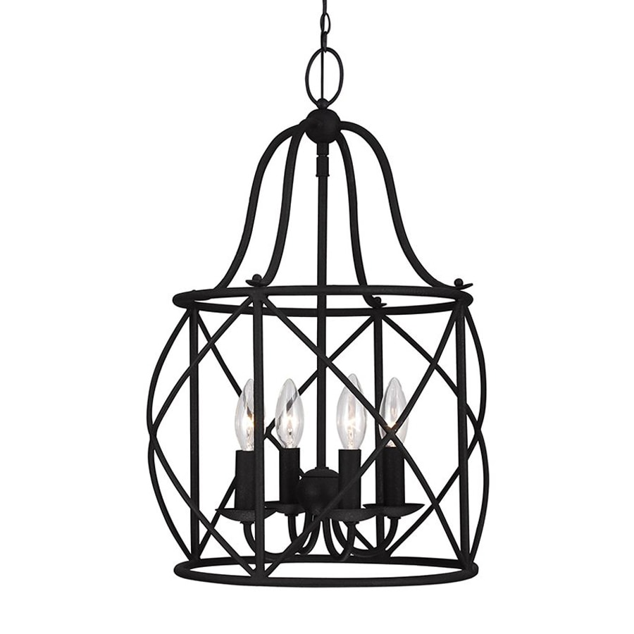 Sea Gull Lighting Turbinio 15-in 4-Light Blacksmith Country Cottage Cage Chandelier