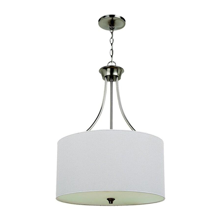 Sea Gull Lighting Stirling 19-in Brushed Nickel Single Drum Pendant