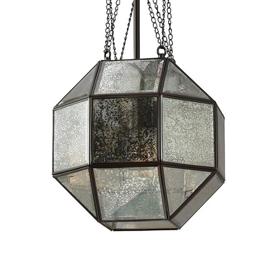 Sea Gull Lighting Lazlo 12.25-in Heirloom Bronze Vintage Single Mercury Glass Geometric Pendant