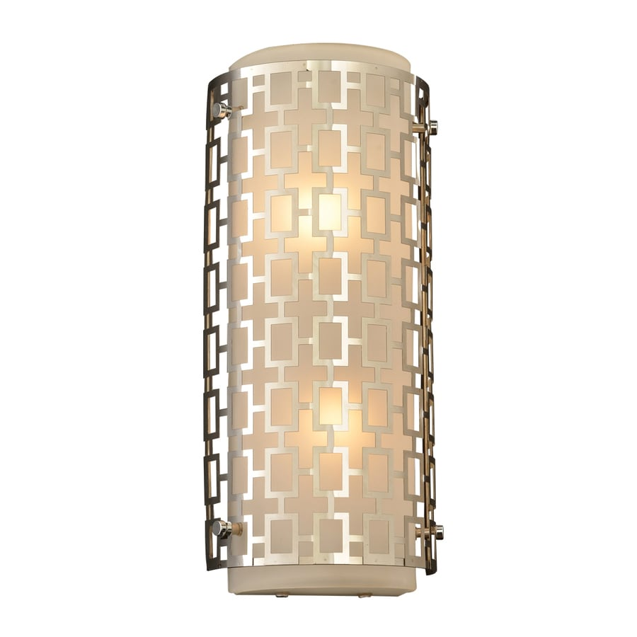 PLC Lighting Ethen 6.5-in W 1-Light Polished Chrome Pocket Wall Sconce