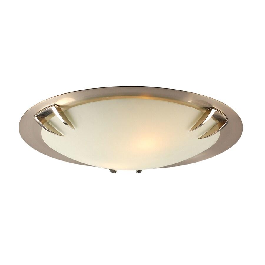 PLC Lighting Paralline 16-in W Satin Nickel Ceiling Flush Mount Light