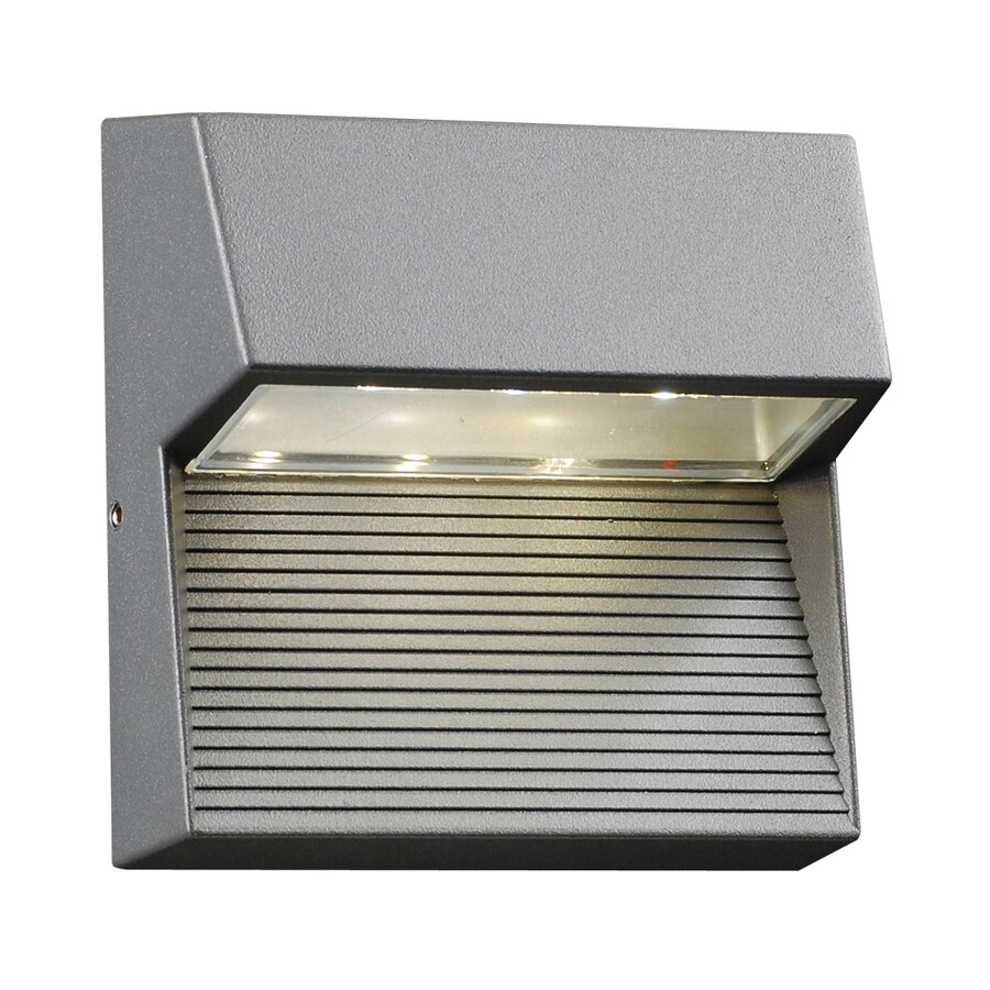 shop plc lighting faro 6 in h led bronze dark sky outdoor wall light