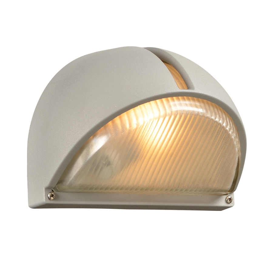 PLC Lighting 9-in H Silver Outdoor Wall Light