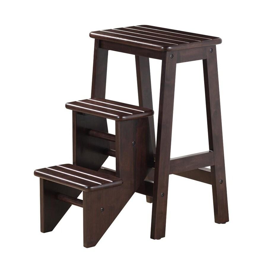 Boraam Industries 3-Step Cappuccino Wood Step Stool