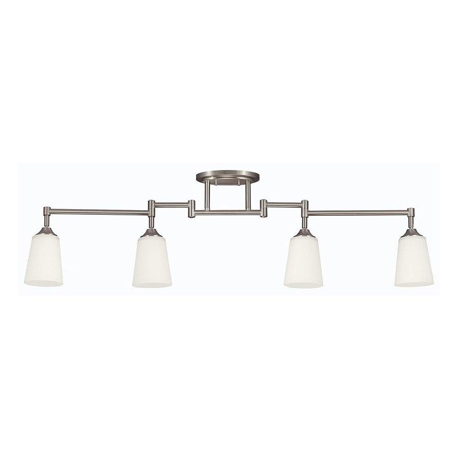 Sea Gull Lighting 4-Light 48-in Brushed Nickel Fixed Track Light Kit