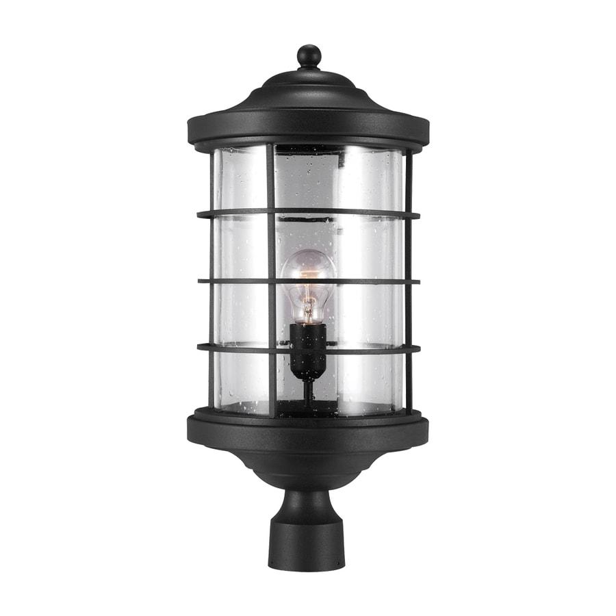 Sea Gull Lighting Sauganash 22.25-in H Black Post Light