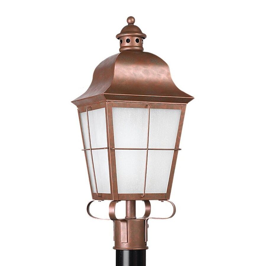 Sea Gull Lighting Chatham 22.75-in H Weathered Copper Post Light
