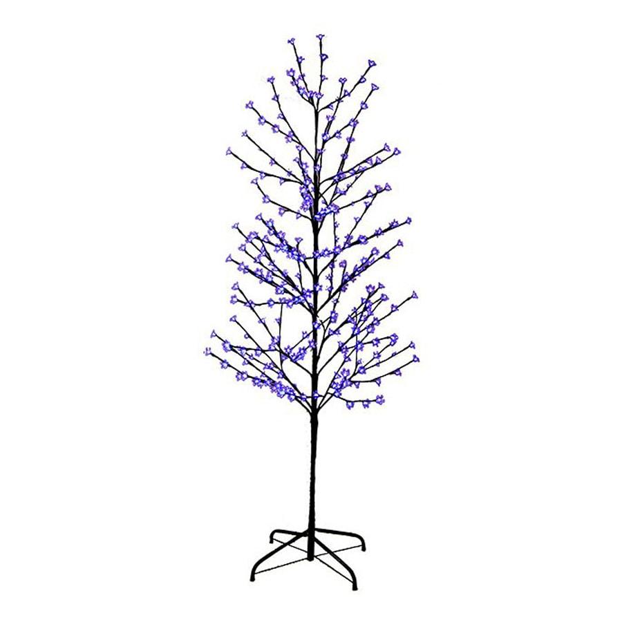 Northlight LB International 6-ft Pre-Lit Twig Slim Artificial Christmas Tree with Purple LED Lights