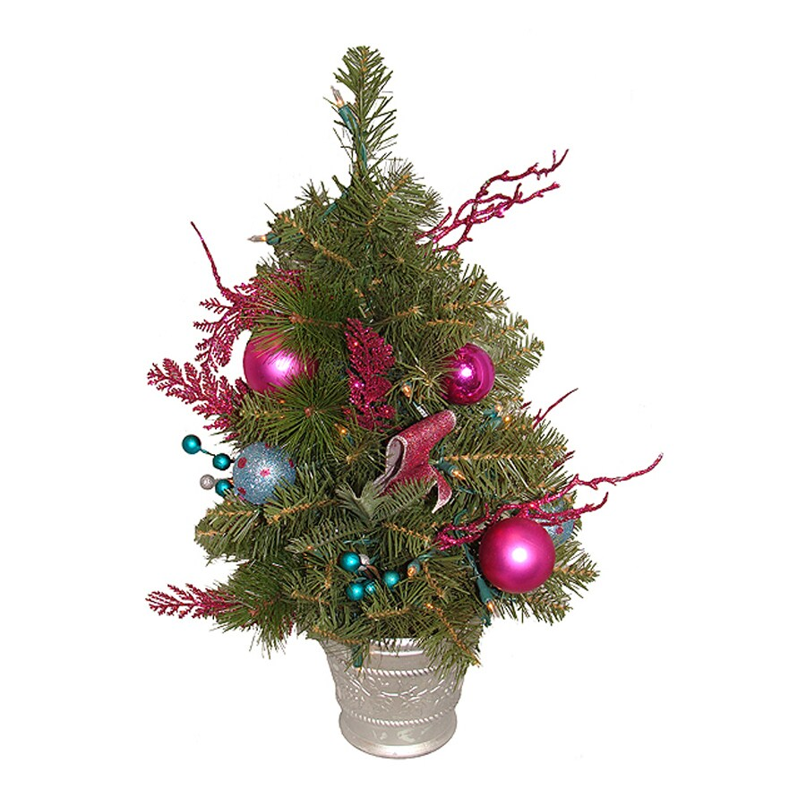 Northlight Allstate 2-ft Pre-Lit Artificial Christmas Tree with White Clear Incandescent Lights