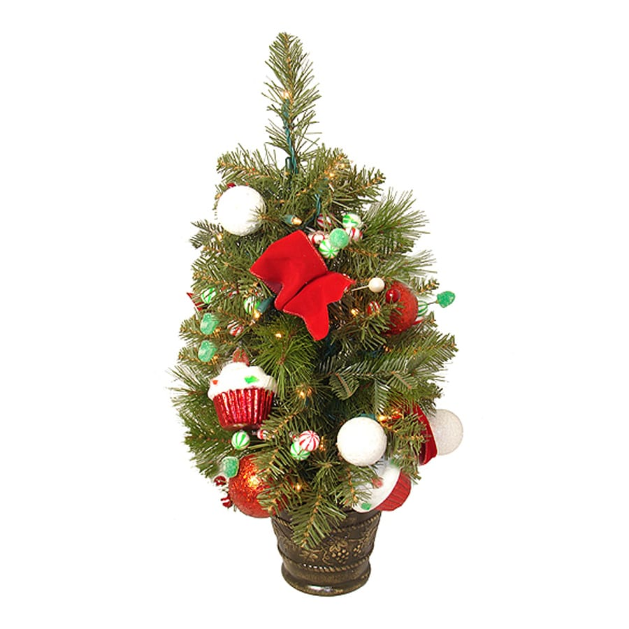 Northlight Allstate 2-ft Pre-Lit Slim Artificial Christmas Tree with White Clear Incandescent Lights