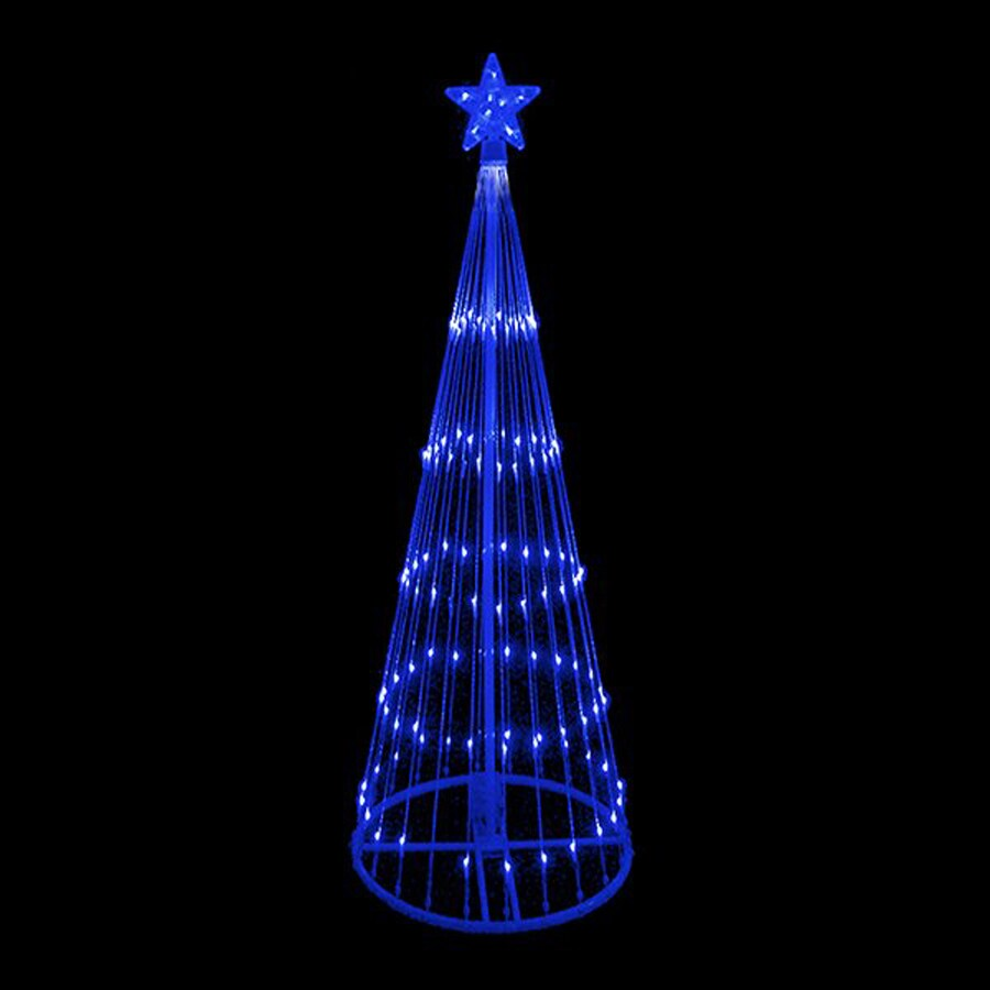 Shop Northlight LB International 12-ft Lighted Freestanding Tree Outdoor Christmas Decoration ...