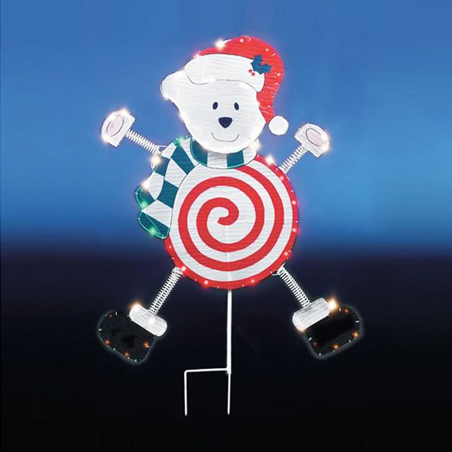 Christmas Central Lighted Polar Bear Outdoor Christmas