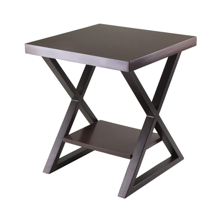 Winsome Wood Korsa Cappuccino Composite Square End Table