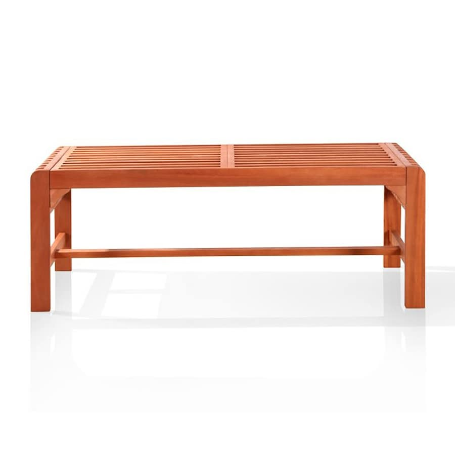 Shop vifah 18 in w x 48 in l patio bench at Lowes garden bench