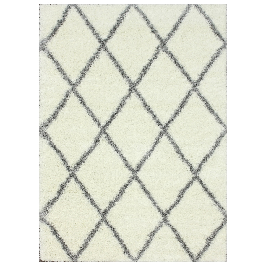 nuLOOM Grey Rectangular Indoor Shag Area Rug (Common: 5 x 7; Actual: 63-in W x 90-in)