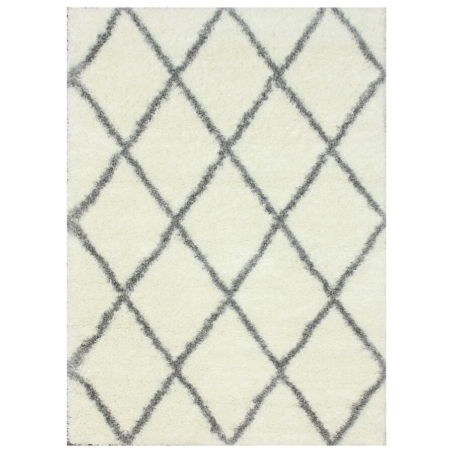 nuLOOM Grey Rectangular Indoor Shag Area Rug (Common: 8 x 10; Actual: 96-in W x 120-in)