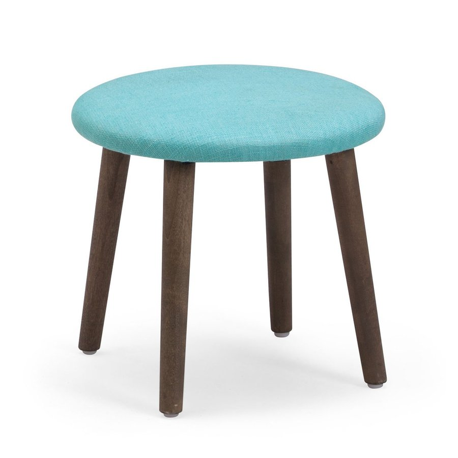 Zuo Modern Edgewater Aqua 13.4-in Small Stool