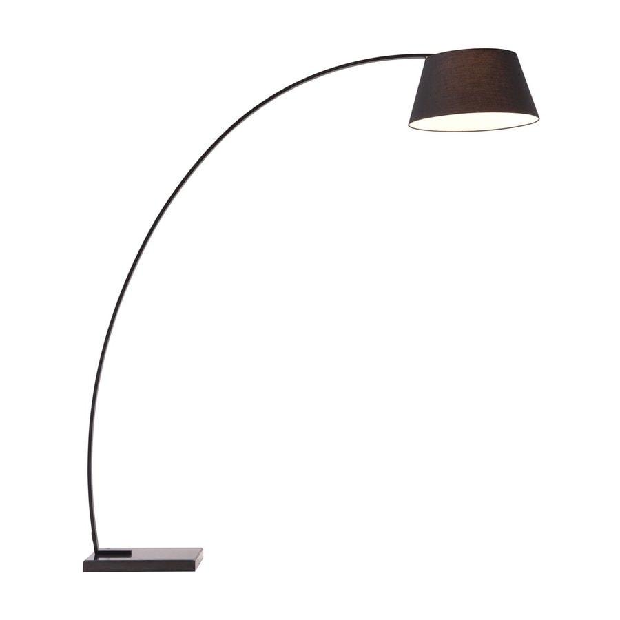 Zuo Modern Vortex 74.8-in Black Indoor Floor Lamp with Fabric Shade