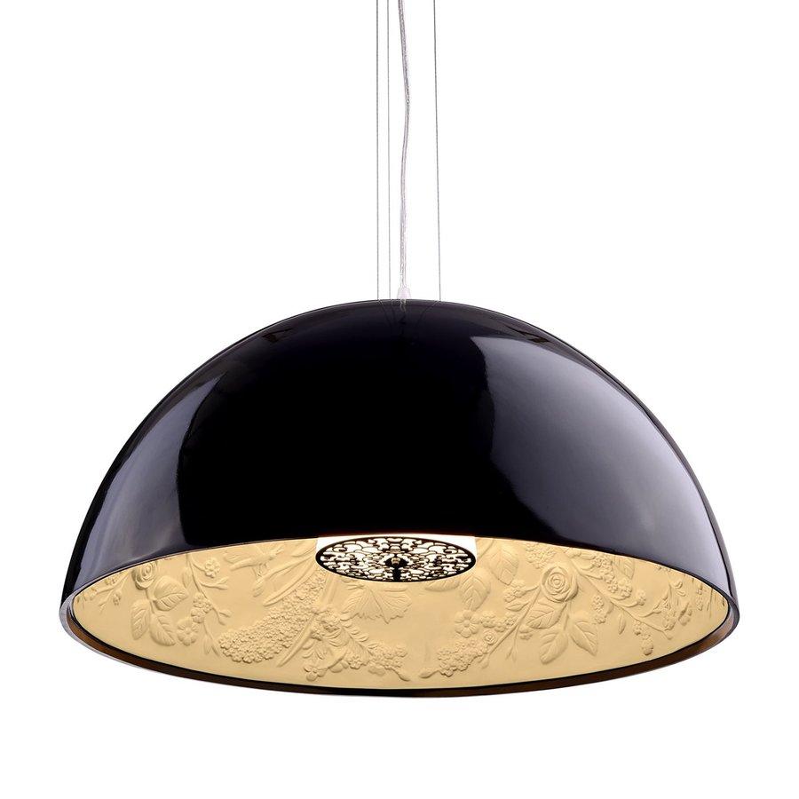 Zuo Modern Atmosphere 23.6-in Black Single Bowl Pendant