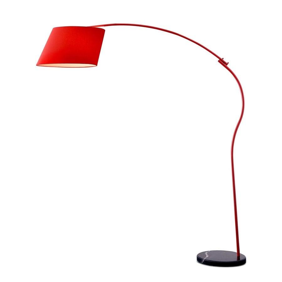 Zuo Modern Derecho 69.7-in Red Indoor Floor Lamp with Fabric Shade