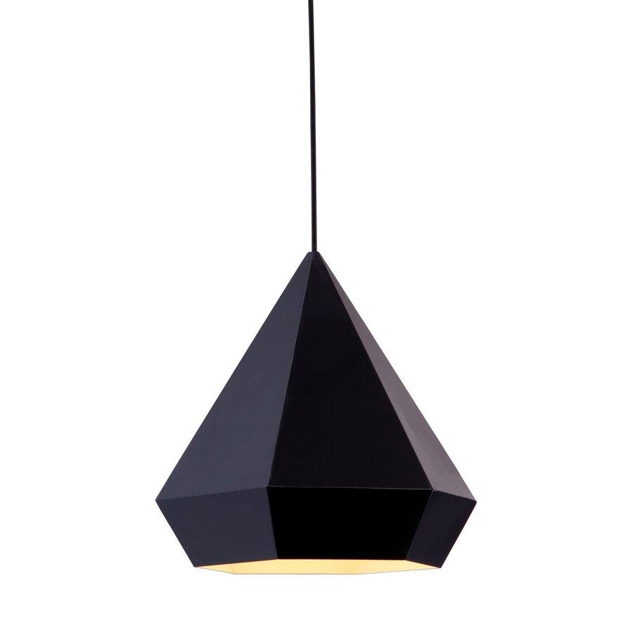 Zuo Modern Forecast 13.8-in Black Single Geometric Pendant