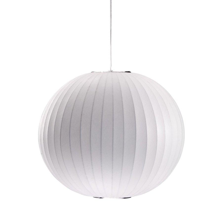 Zuo Modern Geostrophic 19.7-in White Single Globe Pendant