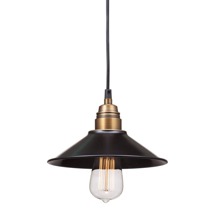 Zuo Modern Amarillite 8.9-in Antique Black Gold/Brass Industrial Mini Bell Pendant
