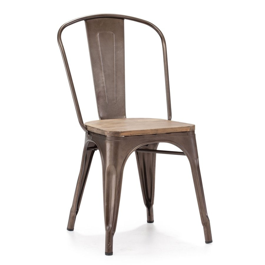 Zuo Modern Set of 2 Elio Rustic Wood Side Chairs