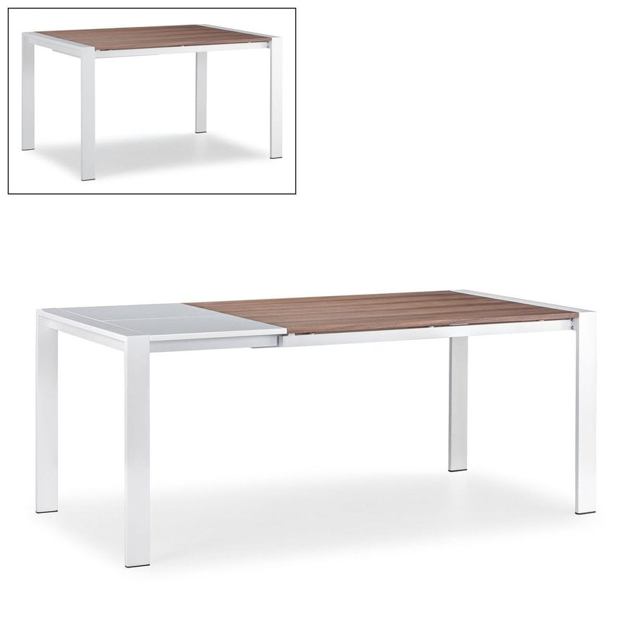 Zuo Modern Oslo Walnut White Rectangular Dining Table At