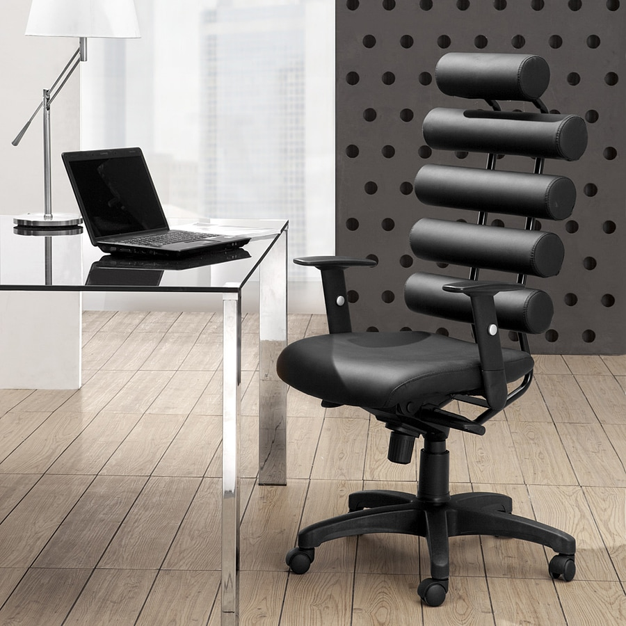 Zuo Modern Unico Black Faux Leather Executive Office Chair