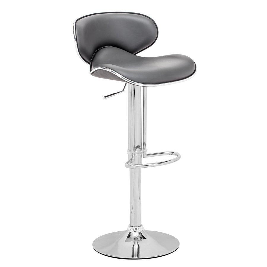Zuo Modern Fly Gray 32.7-in Adjustable Stool