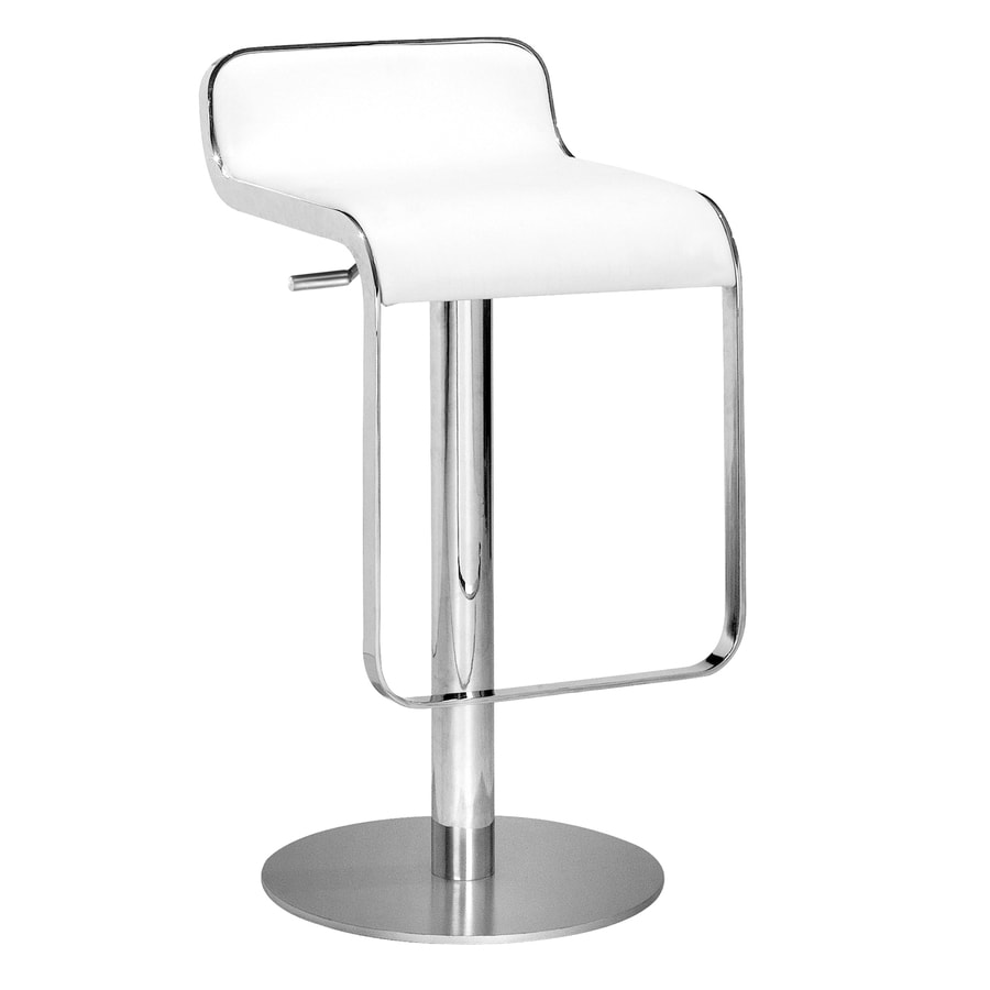 Zuo Modern Equino White 30.5-in Adjustable Stool