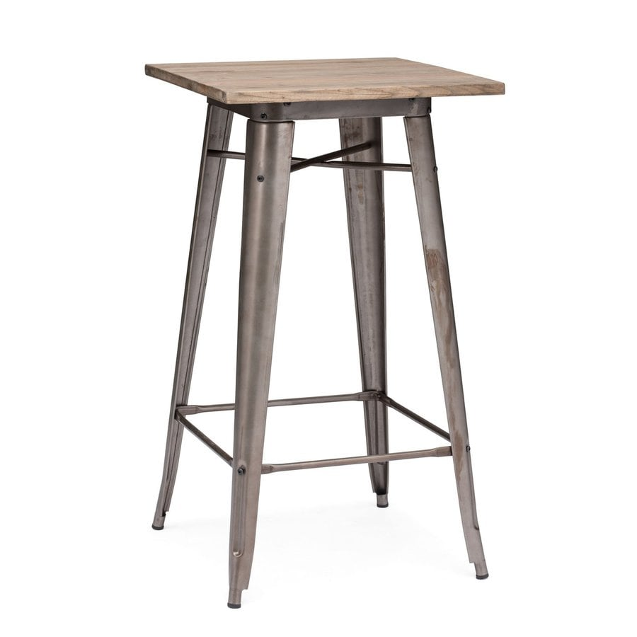 Zuo Modern Titus Rustic Wood Square Bistro Table