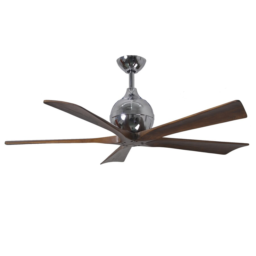 Matthews Irene 52-in Chrome Downrod Mount Indoor/Outdoor Ceiling Fan with Remote (5-Blade)