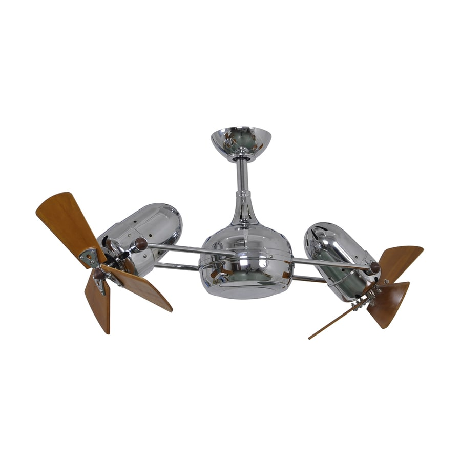 Matthews Dagny 16-in Polished Chrome Downrod Mount Indoor Ceiling Fan with Remote (6-Blade)