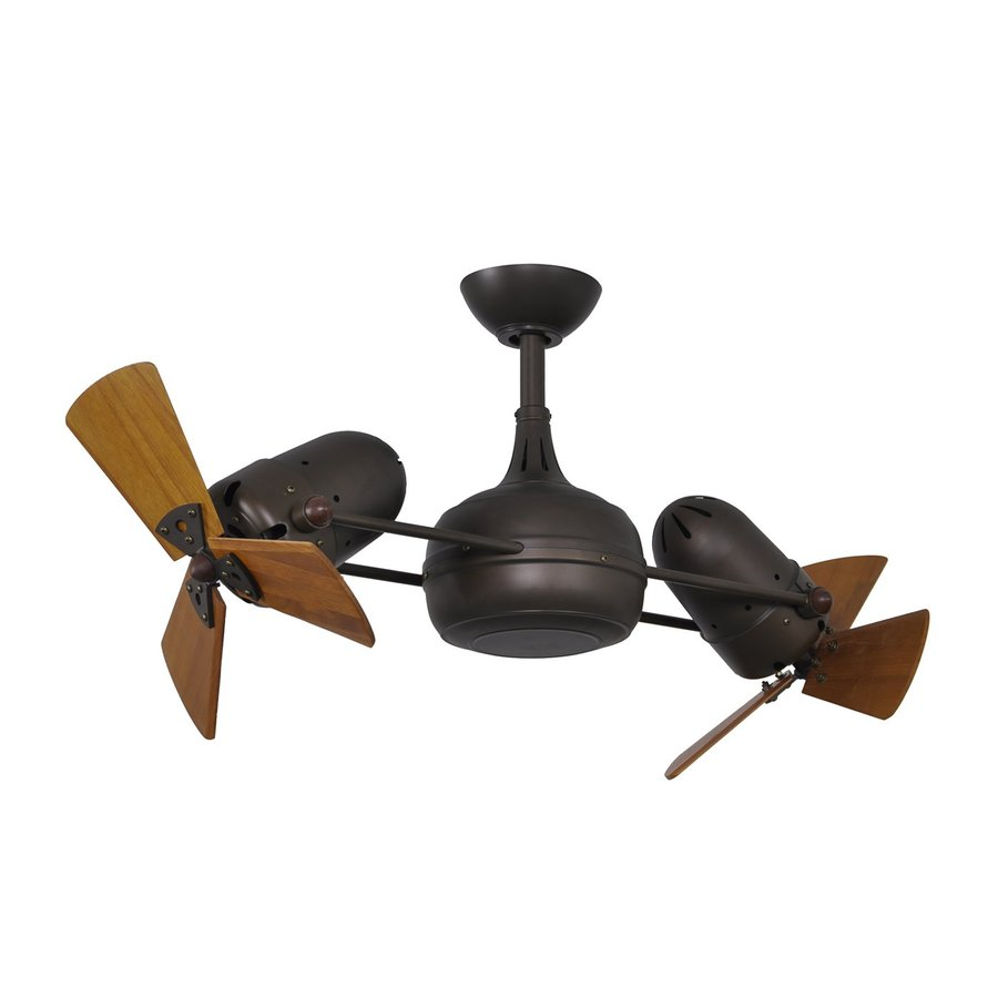 Matthews Dagny 16-in Textured Bronze Downrod Mount Indoor Ceiling Fan with Remote (6-Blade)