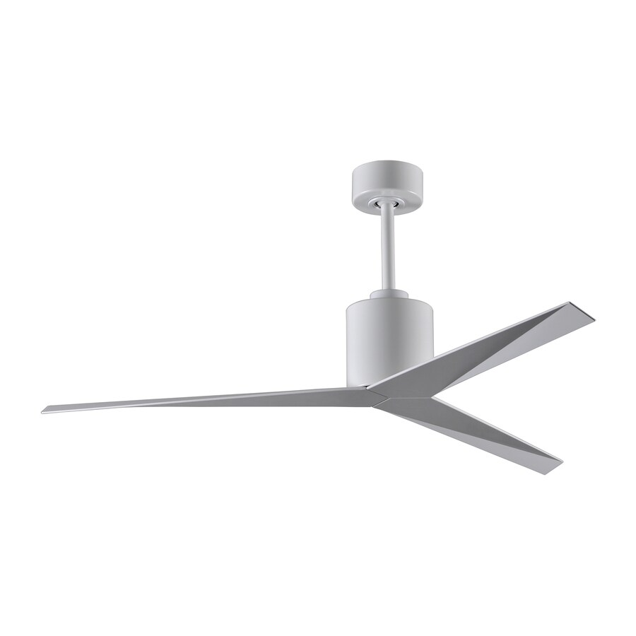 Matthews Eliza 56-in White Downrod Mount Indoor/Outdoor Ceiling Fan with Remote (3-Blade)