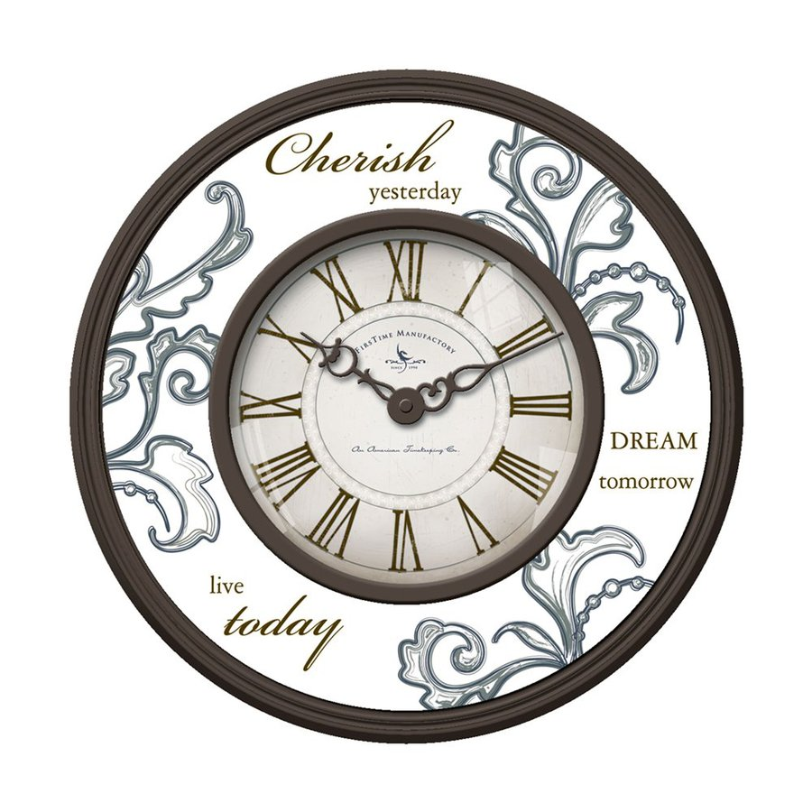 FirsTime Manufactory Cherish Analog Round Indoor Wall Standard Clock