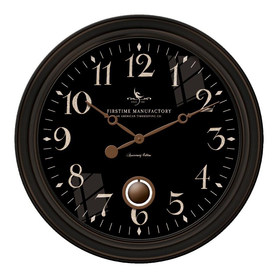 FirsTime Manufactory Varenna Analog Round Indoor Wall Standard Clock